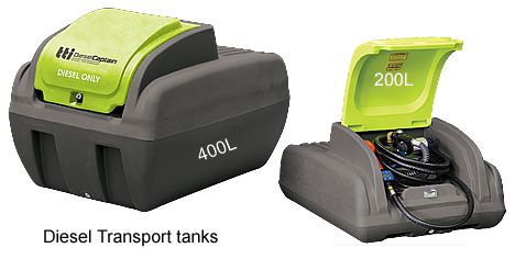200L and 400L diesel transport tanks