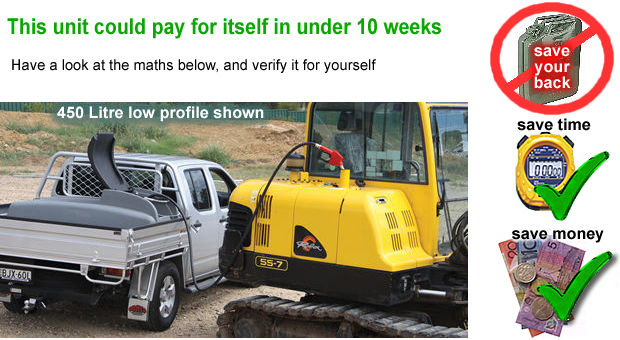 put diesel into your excavator fast