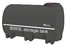8000L diesel storage unit